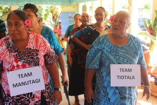 Photos of Faleasa Lefaga… Day 4 Captions Community Awareness on: Manumea Bird and prevention from extinction Villages participate in group activities